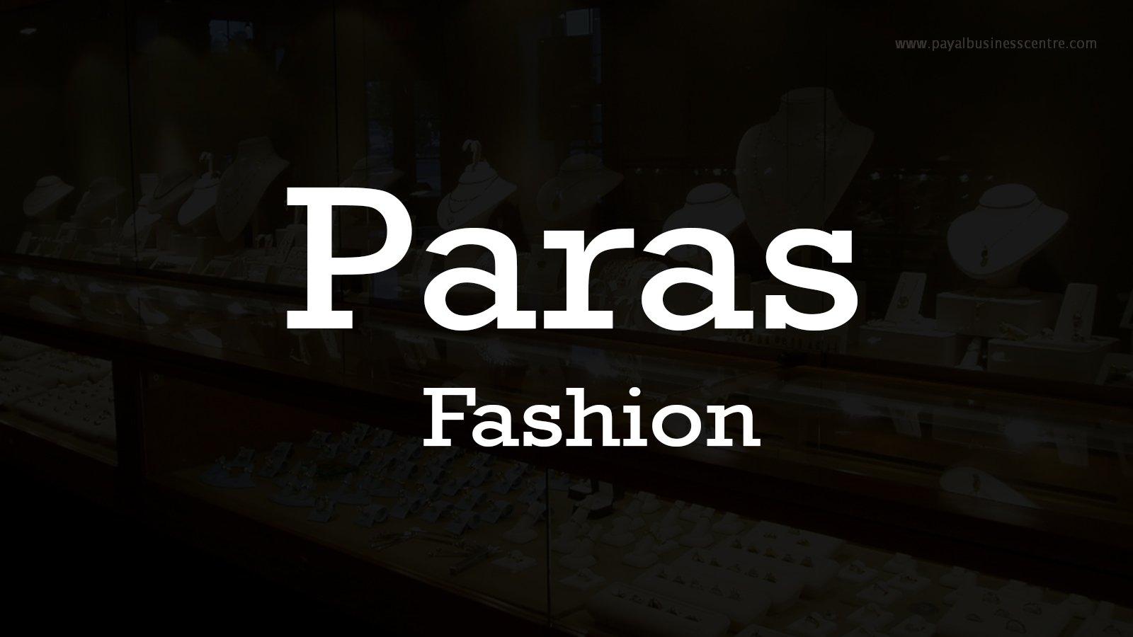 Paras Fashion - 8121 Payal Business Centre - 8128 128 St