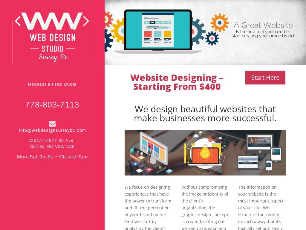 Web Design Studio, Surrey BC