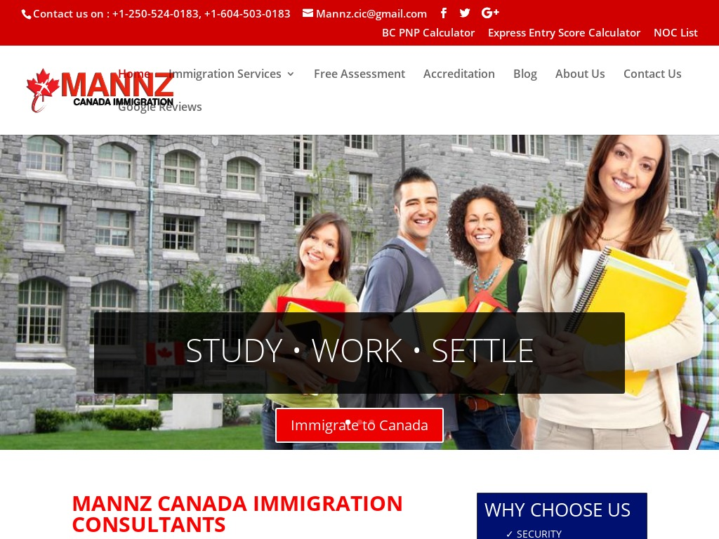 Mannz Canada Immigration Consultants Inc