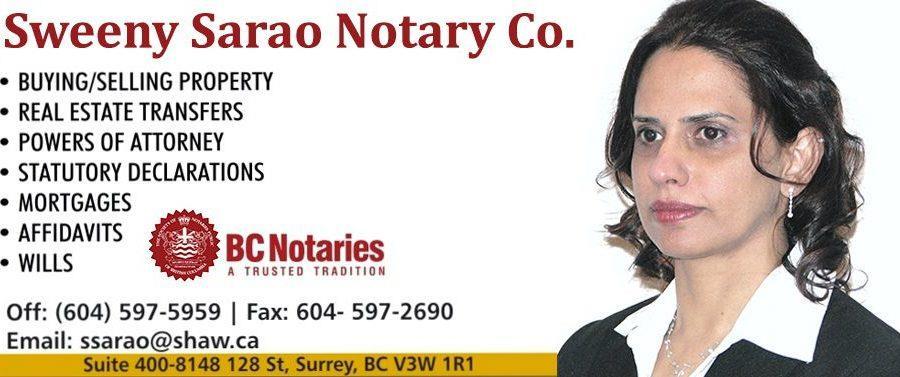 Sweeny Sarao, Notary Public